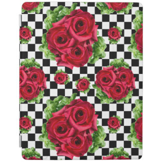 Red Roses Bouquet Floral Love Rockabilly iPad Cover