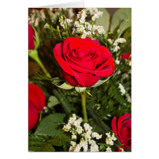 Red Roses Bouquet Photo Blank-Inside Card