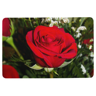 Red Roses Bouquet Photo Floor Mat