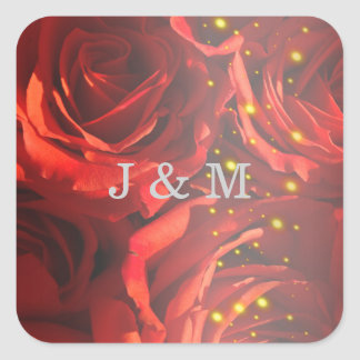 Red roses bouquet sticker