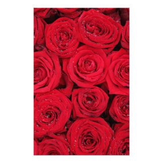 Red roses by Therosegarden Personalised Stationery