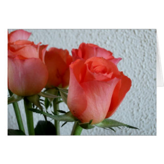 Red roses note card