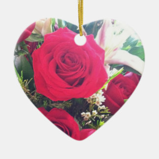 Red Roses Ceramic Heart Decoration