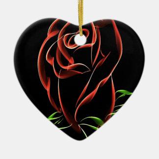 Red Roses Ceramic Heart Decoration