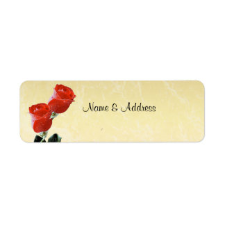Red Roses Champagne Label
