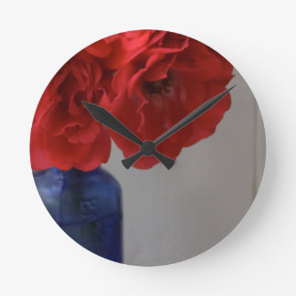 red roses clocks