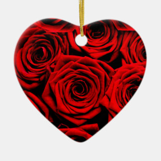 Red Roses Christmas Ornament