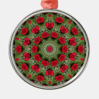 Red roses christmas tree ornament