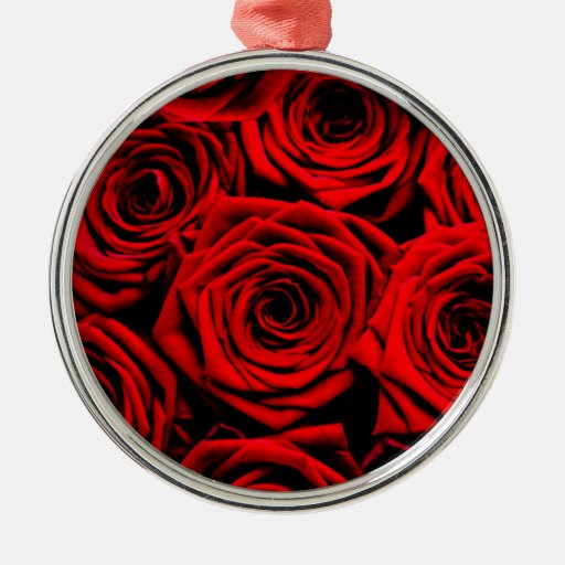 Red Roses Christmas Ornaments