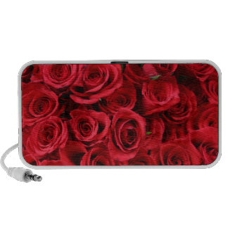 Red Roses Doodle Portable Speakers