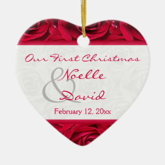 Red Roses First Christmas Keepsake Ornament