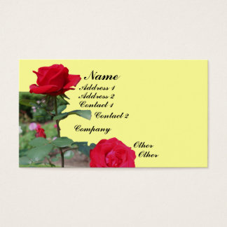 Red Roses Flower Business Card
