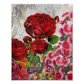 Red Roses Flower Garden Photo Print