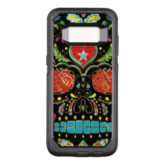 Red Roses & Flowers Sugar Skull G1 OtterBox Commuter Samsung Galaxy S8 Case