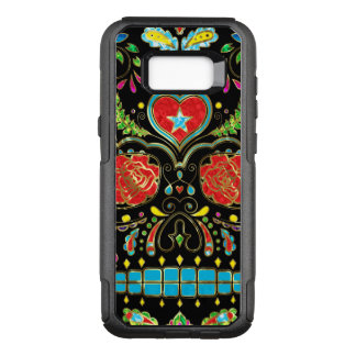 Red Roses & Flowers Sugar Skull G2 OtterBox Commuter Samsung Galaxy S8+ Case