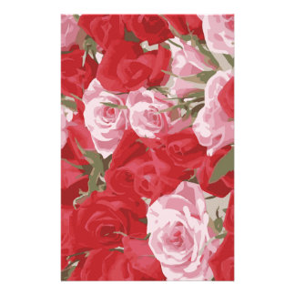 Red Roses for Thalia Personalised Stationery