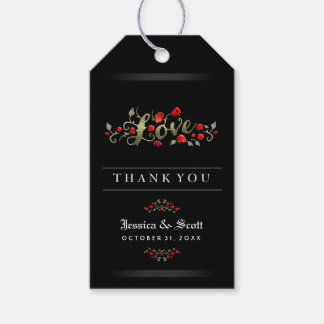 Red Roses Gothic Halloween Wedding LOVE Thank You