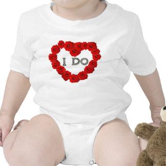 Red Roses Heart I Do Bling Infants Creeper