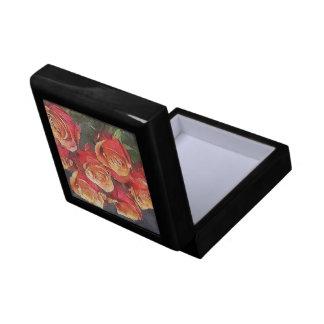 Red Roses Illustration Gift Box
