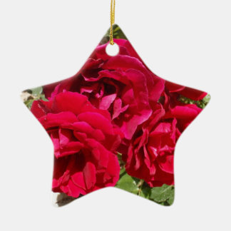 Red Roses In Bloom Christmas Ornament