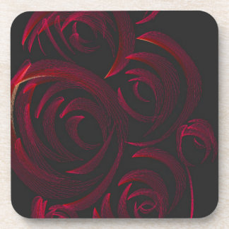Red Roses in the Dark Beverage Coasters