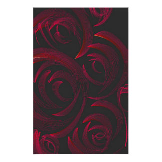 Red Roses in the Dark Personalized Stationery