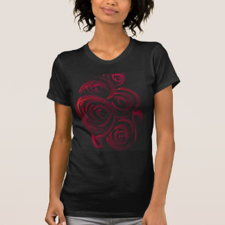 Red Roses in the Dark Shirt