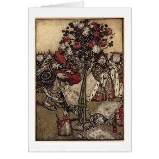 Red Roses in Wonderland Card