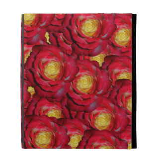 Red roses iPad folio cases