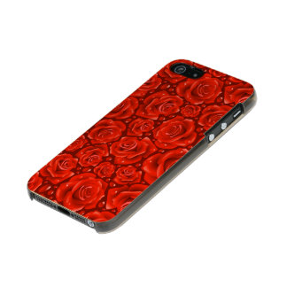 Red Roses iPhone 5/5s Feather® Shine, Gold Incipio Feather® Shine iPhone 5 Case