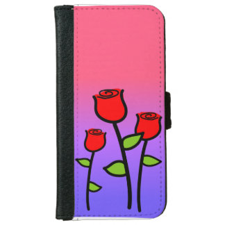 Red Roses iPhone 6 Wallet Case