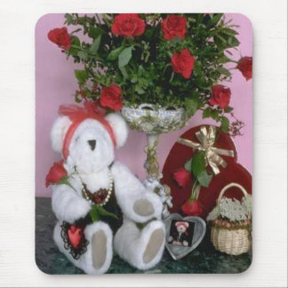 Red Roses - Love Bear Mouse Pad
