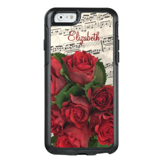 Red Roses Love Melody Customized OtterBox iPhone 6/6s Case