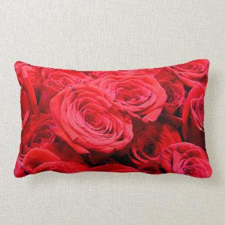 Red Roses Lumbar Cushion