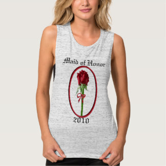 Red Roses Maid of Honor Flowy Muscle Tank Top