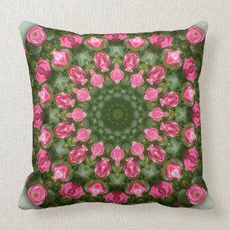 Red Roses Nature, Flower-Mandala Cushion