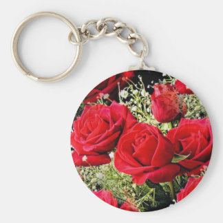 Red Roses of love_ Keychains