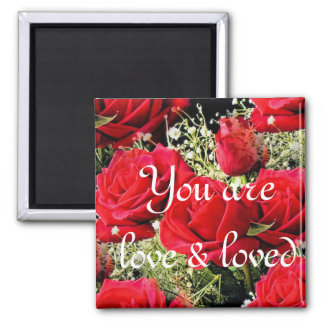 Red Roses of love_ Magnet