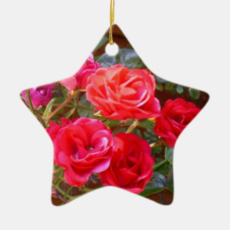 red roses ornament