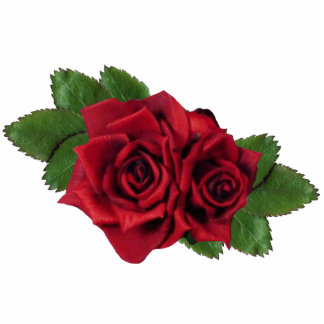 Red Roses Ornament Photo Sculpture Decoration