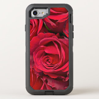 Red roses OtterBox defender iPhone 8/7 case