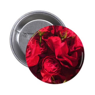 Red Roses Painting 6 Cm Round Badge