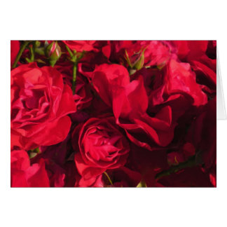 Red Roses Painting Blank Notecards Card
