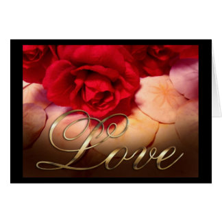 Red Roses Sand Dollars Love Card
