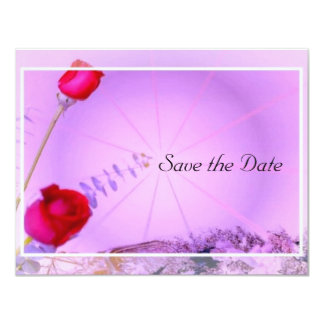 Red Roses Save the Date Invites