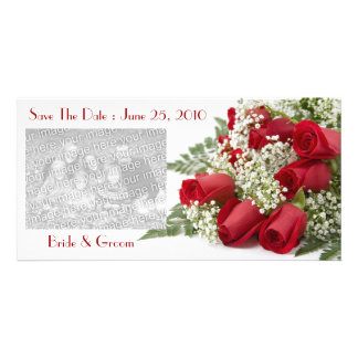 Red Roses Save The Date Photo Cards