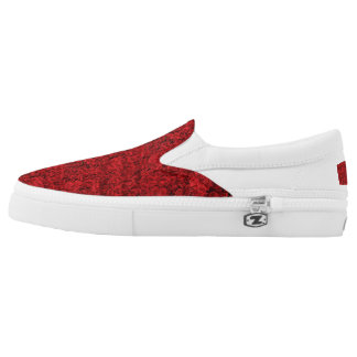 Red roses shoes printed shoes