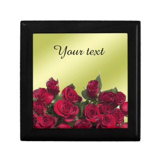 Red roses small square gift box