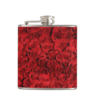 Red Roses Smash Hip Flask