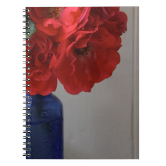 red roses spiral notebooks